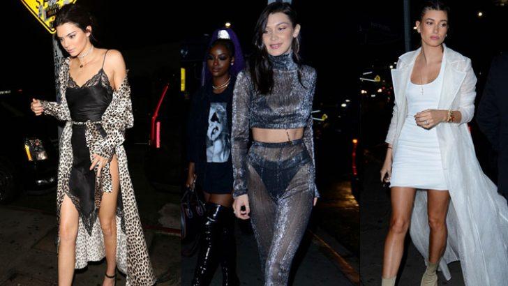 Bella Hadid ile Kendall Jenner'ın yeni yıl partisine ünlü akını