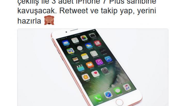 Twitter'daki hediye iPhone 7 hediye tuzağına dikkat!