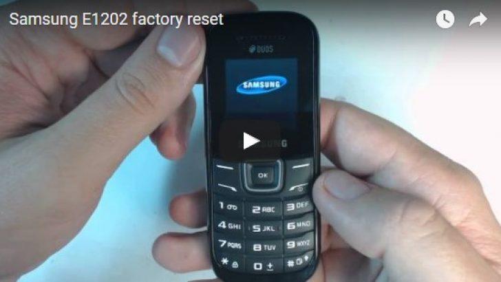 Samsung E1205 format atma sıfırlama nasıl yapılır – 2017