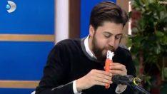 Serkan Çağrı havuçtan klarnet yaptı