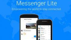 Facebook'un Messenger Lite uygulaması 150 ülkeye daha sunuldu!