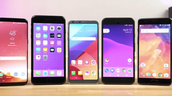 iPhone 7 Plus, Galaxy S8, Google Pixel ve OnePlus 3T hız testinde