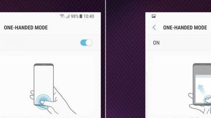 Galaxy S8 'tek el' kullanım modu nasıl aktif edilir