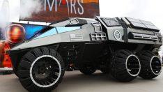 Mars Rover Concept aracı bilim kurgu filmlerinden fırlamış gibi