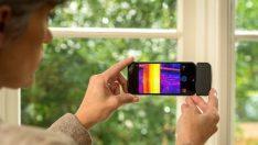 Flir One termal kamerayla sızıntı yapan pencereleri bulun