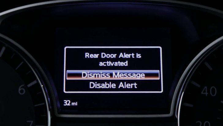 Nissan'dan bir ilk: arka kapı alarmı