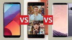 Nokia 8 vs Galaxy S8 vs LG G6 karşılaştırması