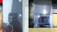Xiaomi Mi Note 3'ün kutusu sızdırıldı