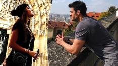 Hande Erçel sevgilisi Mehmet Dinçerler ile Prag'da tatilde!