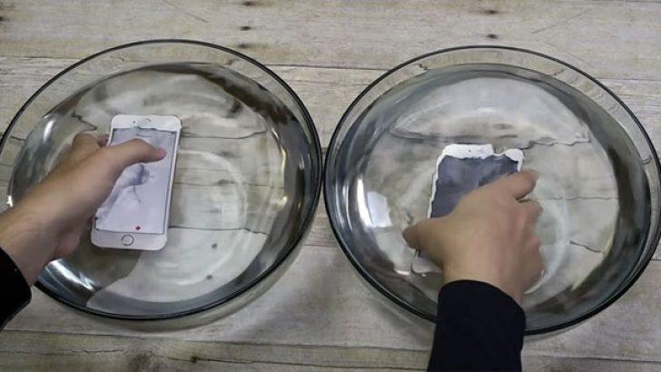 Yeni iPhone su altında 1 saat durabiliyor