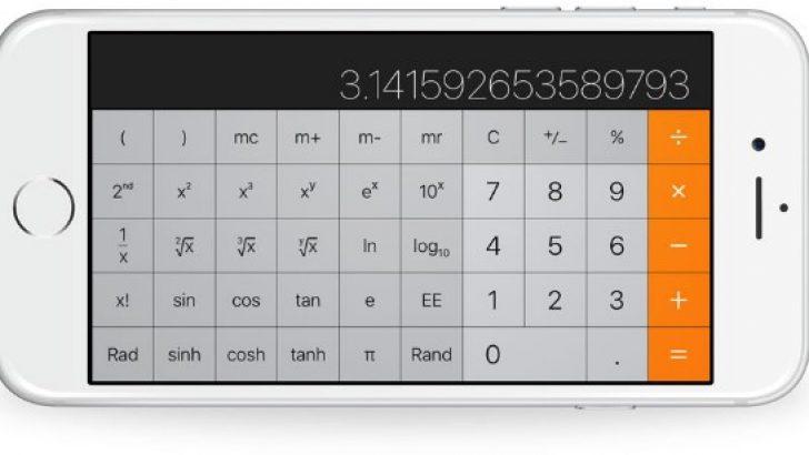 iOS11 yüklü iPhone'ların hesap makinesi yanlış topluyor