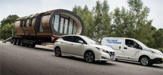 Nissan elektrikli e-NV200 ile yük çekme rekoruna imza attı!