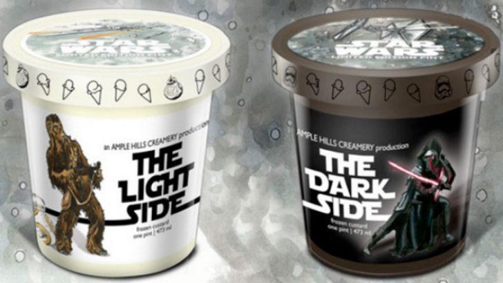 Star Wars filmi için özel dondurma üzetildi
