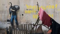 Banksy'den Steve Jobs'lı mülteci çalışması