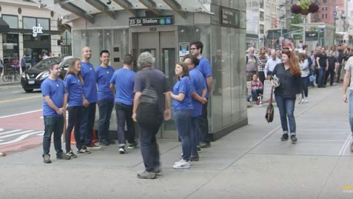 Sahte Apple mağazası açtılar önünde 50 kişi iPhone X kuyruğuna girdi