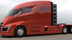 İşte Tesla elektrikli kamyonun yeni fotoğrafı