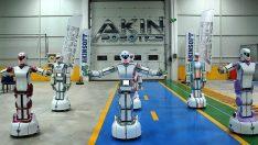 Oyun havası oynayan yerli insansı robotlar