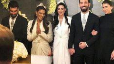 Aslıhan Doğan'ın nikah elbisesi tartışma konusu oldu!