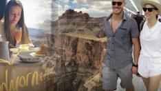 Serenay ile Kerem helikopterle ABD semalarında…