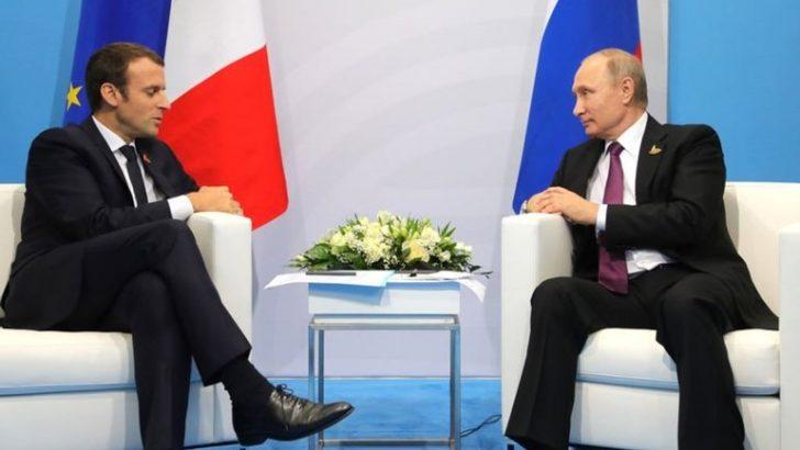 Macron, Putin ile Suriye'yi konuştu