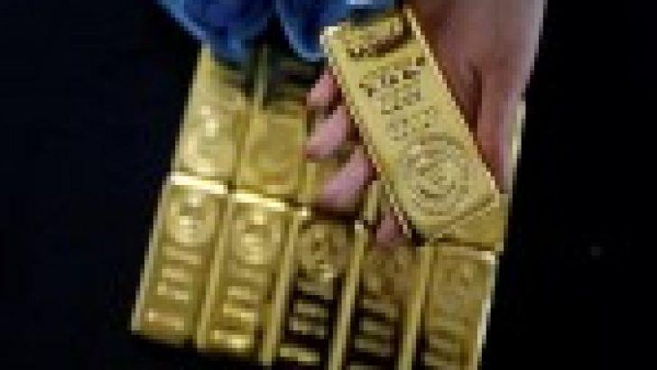 Altın fiyatları GSYİH raporu sonrası yükselen dolarla birlikte geriledi