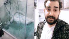 Enis Arıkan'ın duşa kabini patladı!