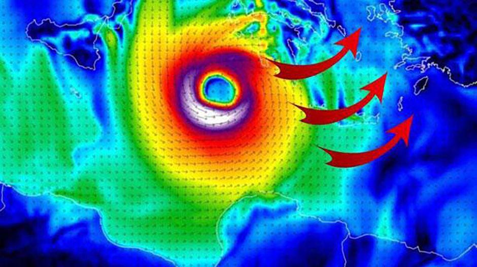 Hayırlı olsun Türkiye için ilk tropikal kasırga alarmı verildi. Tropical Medicane geliyor!.