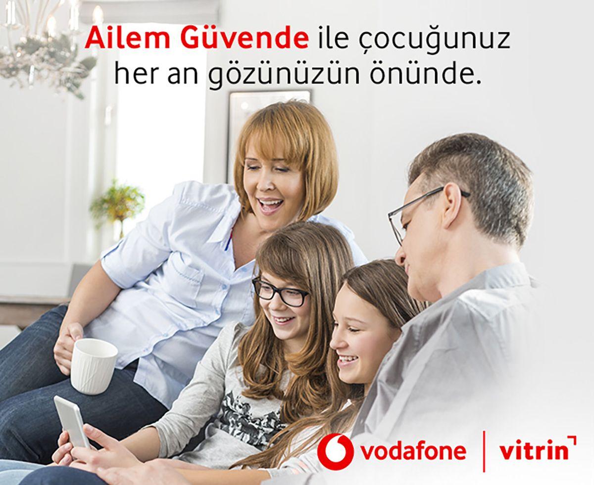 Ailem Güvende uygulaması Vodafone Vitrin'de
