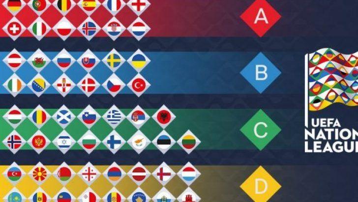UEFA Uluslar Ligi'nde 9 maç Oynandı