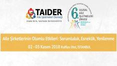 Ali Sabancı 2-3 Kasım'da Düzenlenecek TAİDER 6. Ulusal Aile İşletmeleri Zirvesi'nde