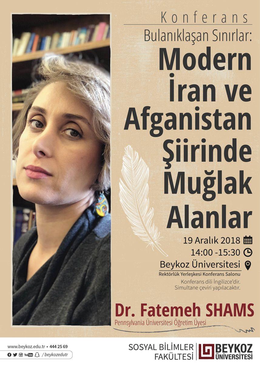 Ödüllü şair, yazar ve akademisyen Dr. Fatemeh Shams, Beykoz Üniversitesi'nde konferans verecek