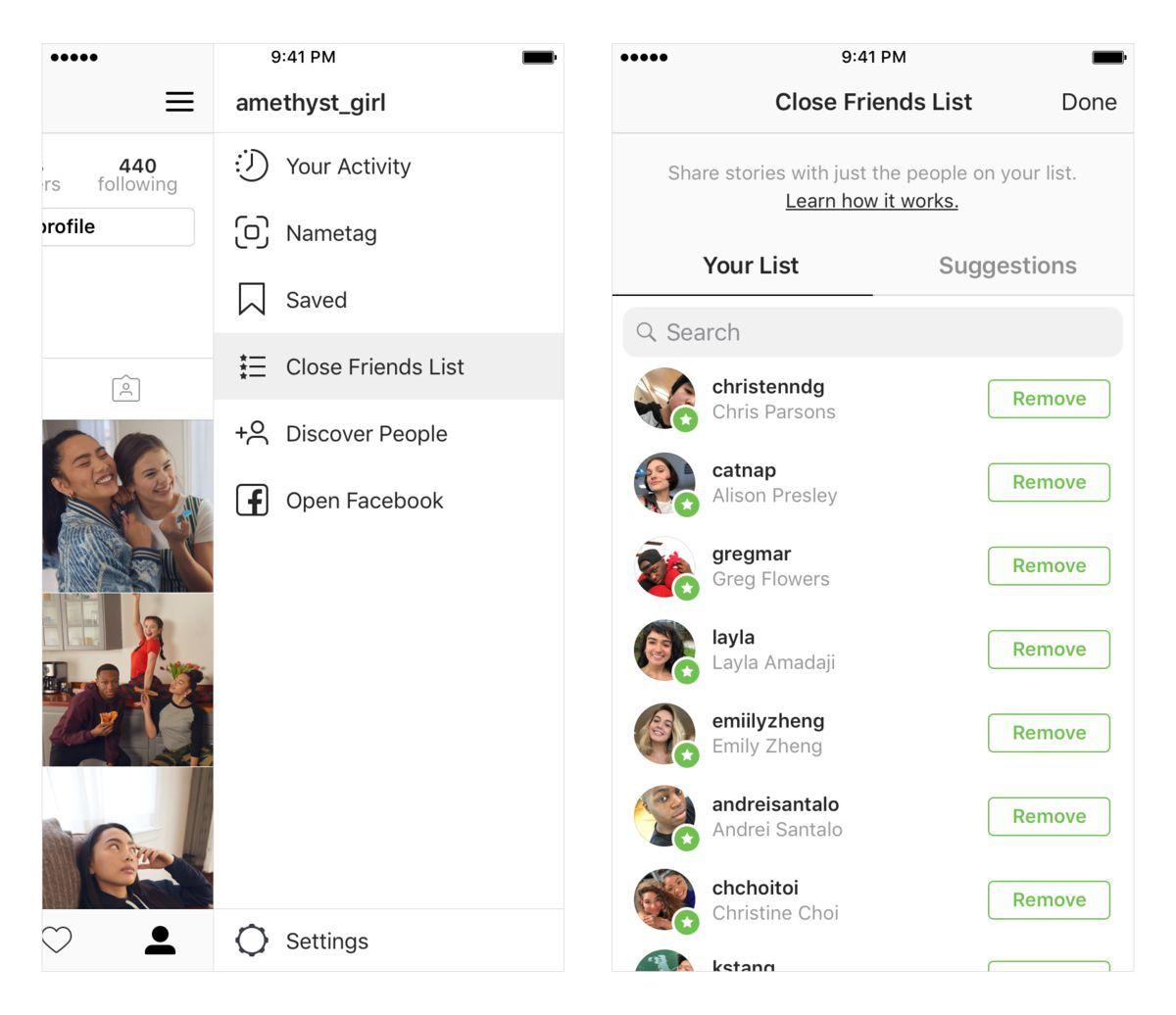 Instagram'a özel anları yalnızca yakın arkadaşlarla paylaşma özelliği geldi