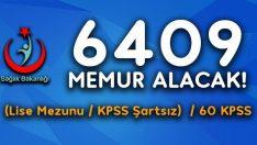 Sağlık Bakanlığına KPSS'siz 6 bin 409 Personel alımı.