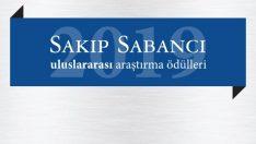 2019 Sakıp Sabancı Uluslararası Araştırma Ödülü: