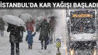 İstanbul'da kar başladı. Okullar tatil olacak mı?