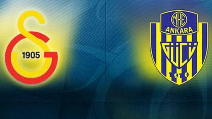 Süperlig'de Galatasaray-Ankaragücü