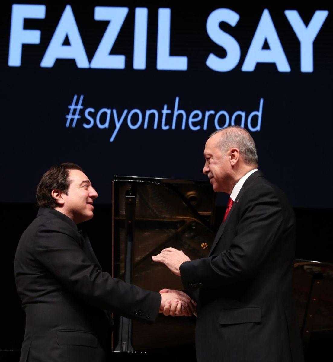 Cumhurbaşkanı Erdoğan, ABD´li Senatör Lindsey Graham ile birlikte Fazıl Say konserine katıldı