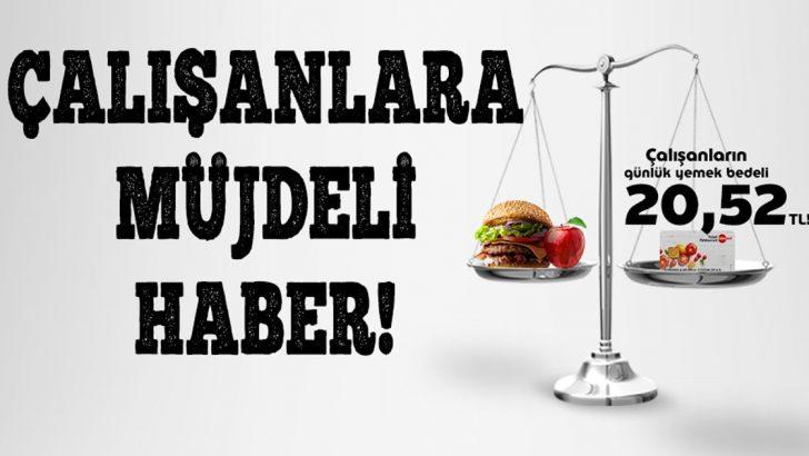 Günlük Yemek Çeki İstinası 2019'da 20.52 TL'ye Yükseltildi..