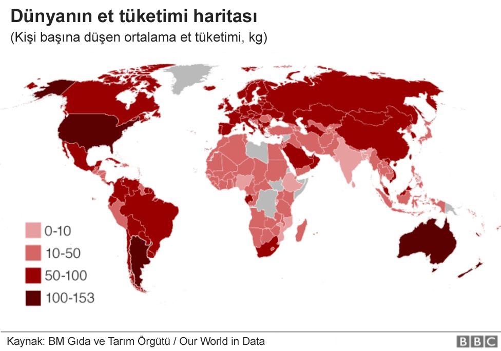 En çok et tüketen ülkeler