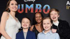 """Angelina Jolie Çocuklarıyla """"Dumbo"""" Galasında!"""
