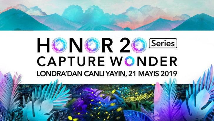 HONOR 20 serisi lansmanını canlı yayında izleyin!