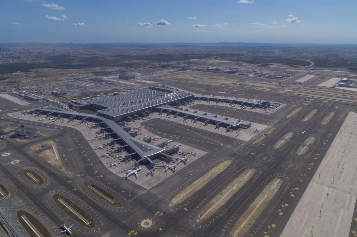 İstanbul Havalimanı'nın güncel hali drone ile havadan fotograflandı