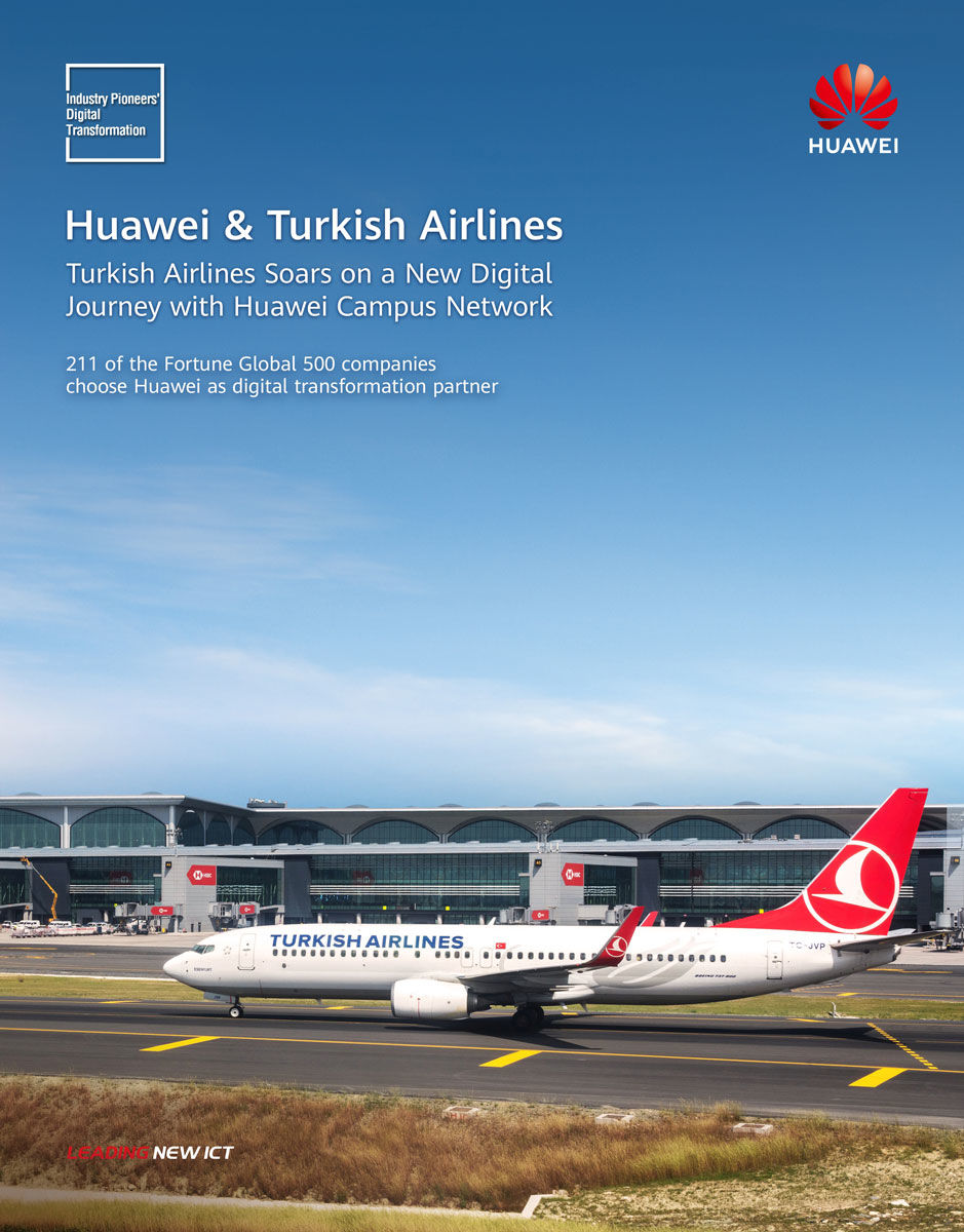 Türk Hava Yolları Huawei iş birliği ile dijital havacılıkta yeni dönem