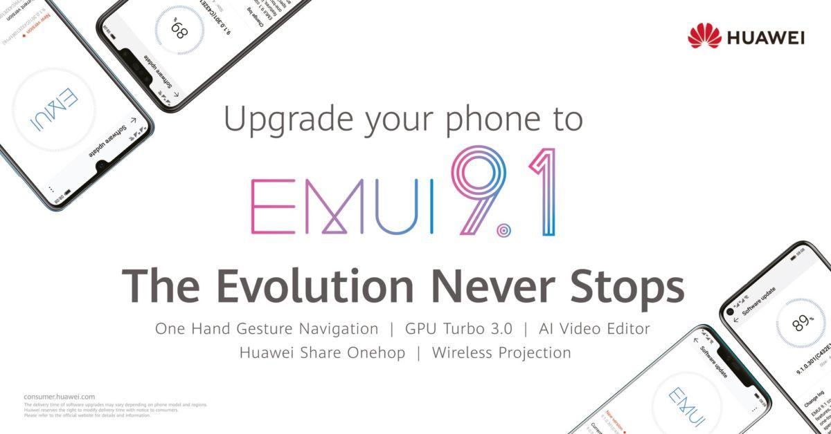 Huawei EMUI 9.1 ile akıllı telefonunuzu bir üst seviyeye taşıyın