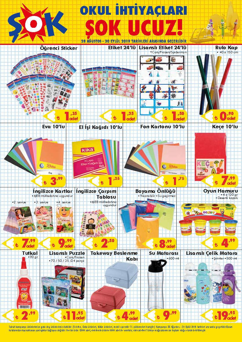 ŞOK Marketler uygun fiyatlı birbirinden cazip okul ürünleriyle yeni eğitim öğretim dönemine hazır
