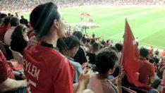 """Türkiye Andorra Maçında Tribünlerde """"Eylem"""" Vardı!"""