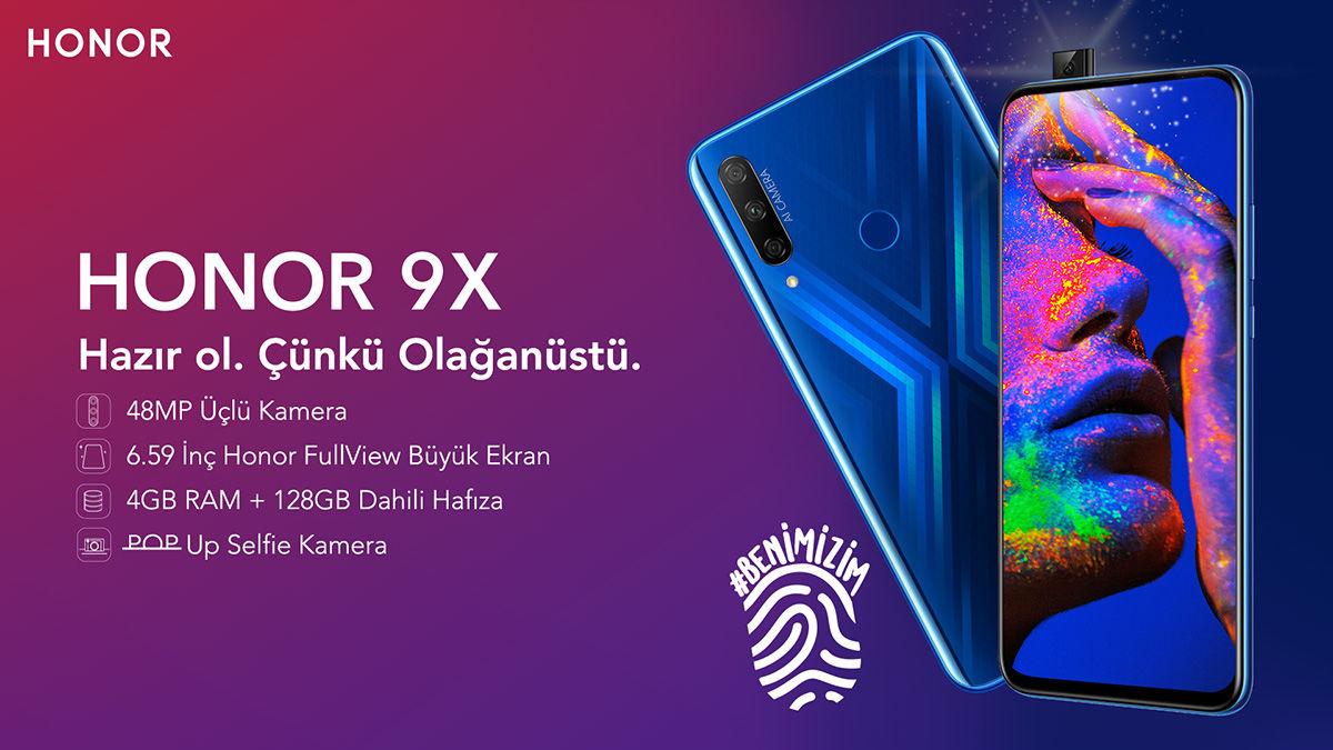 HONOR 9X şimdi de Turkcell satış noktalarında