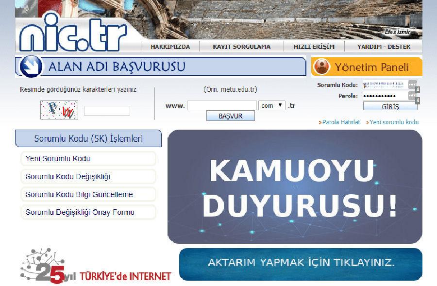 com.tr uzantılı alan adları için son tarih 23 Mart