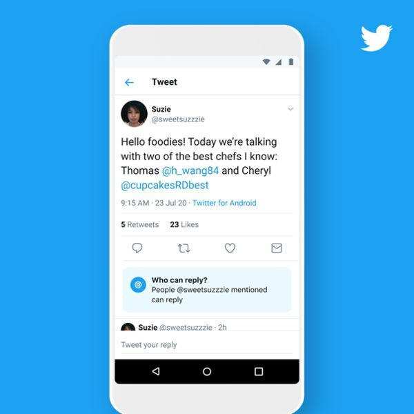 Twitter'a yeni konuşma ayarları geldi
