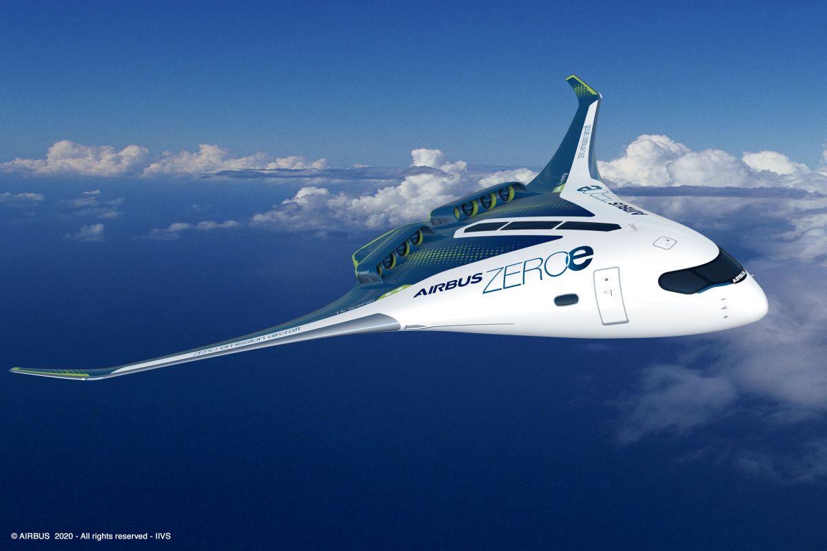 Airbus yeni sıfır emisyon konsept uçağını duyurdu